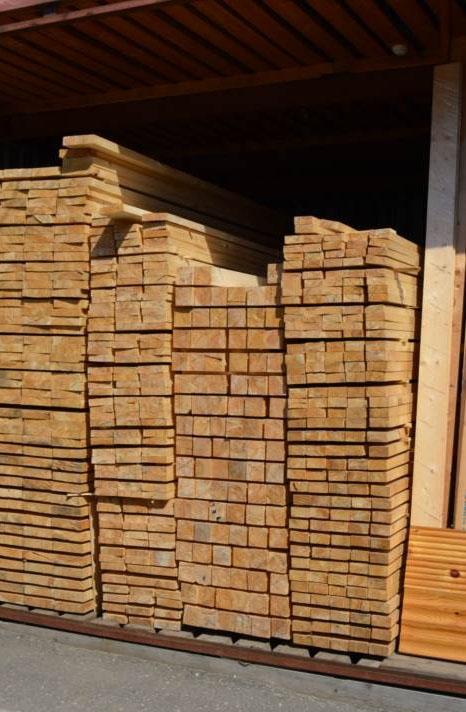 Доска обрезная 25х150х6000 в кубе